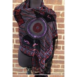 Gorg vintage velvet burnout  jewel.tine scarf